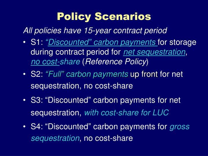 Policy Scenarios