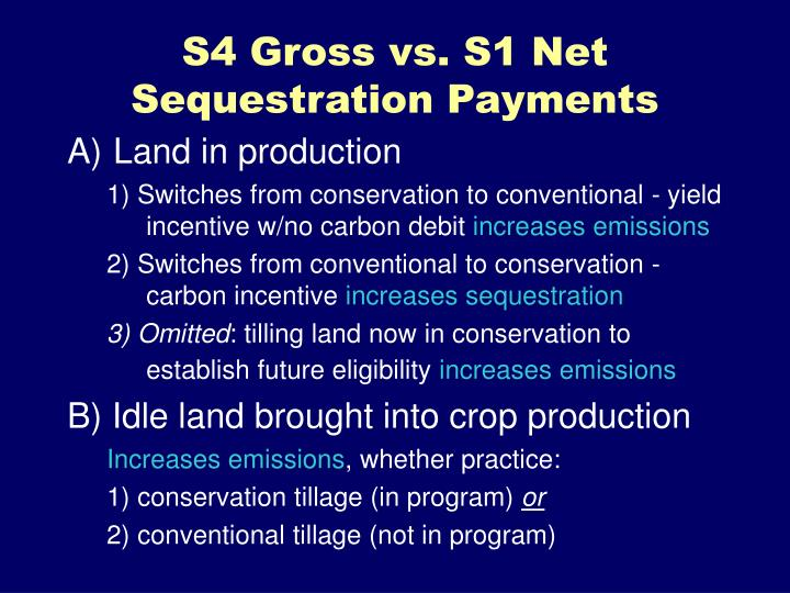 S4 Gross vs. S1 Net Sequestration Payments