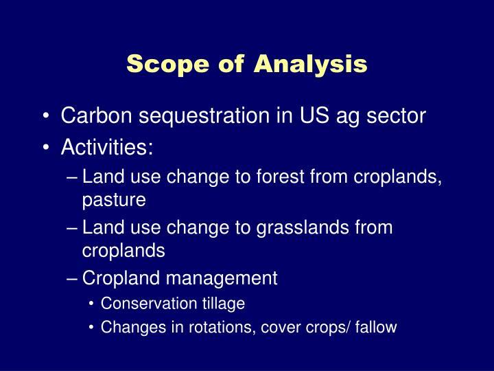 Scope of Analysis