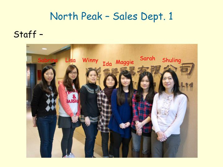 North Peak – Sales Dept. 1