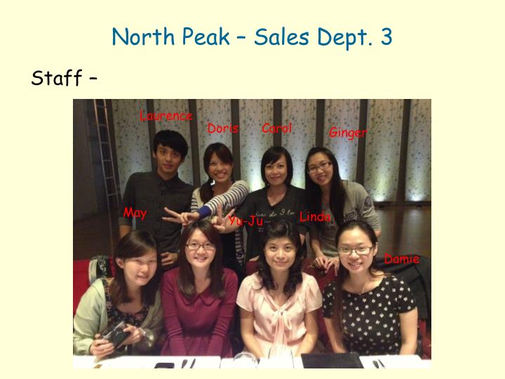 North Peak – Sales Dept. 3