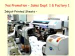 yes promotion sales dept 1 factory 12