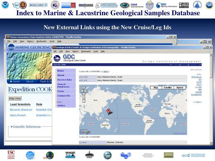 Index to Marine & Lacustrine Geological Samples Database