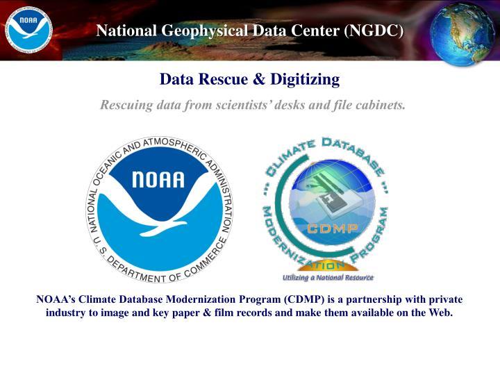 Data Rescue & Digitizing