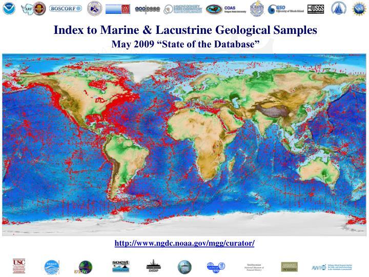 Index to Marine & Lacustrine Geological Samples