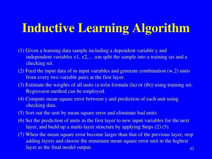 Inductive Learning Algorithm