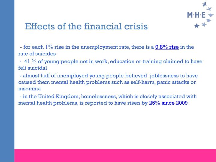 Effects of the financial crisis