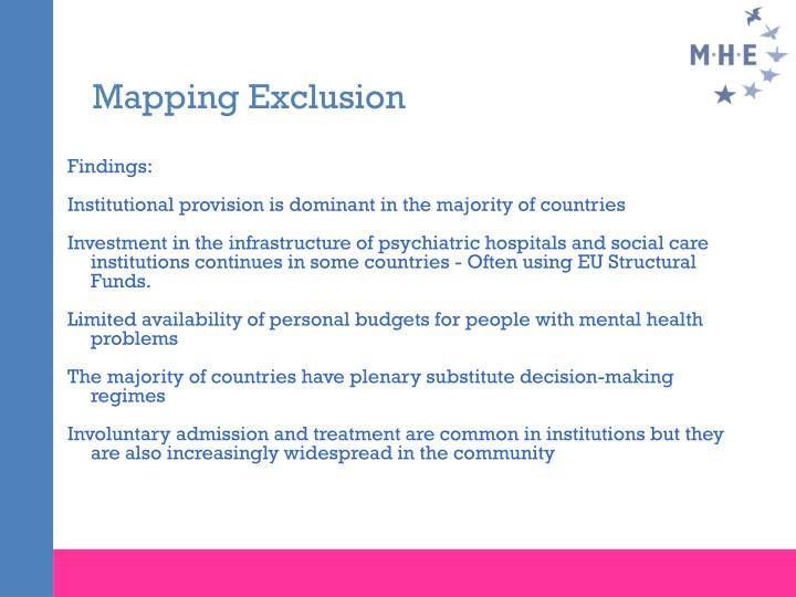 Mapping Exclusion