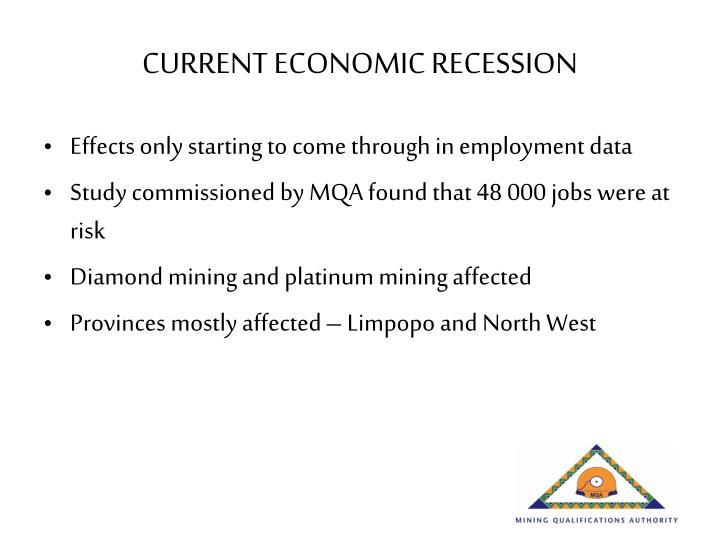CURRENT ECONOMIC RECESSION
