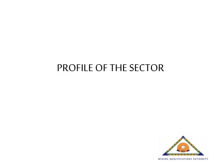 PROFILE OF THE SECTOR