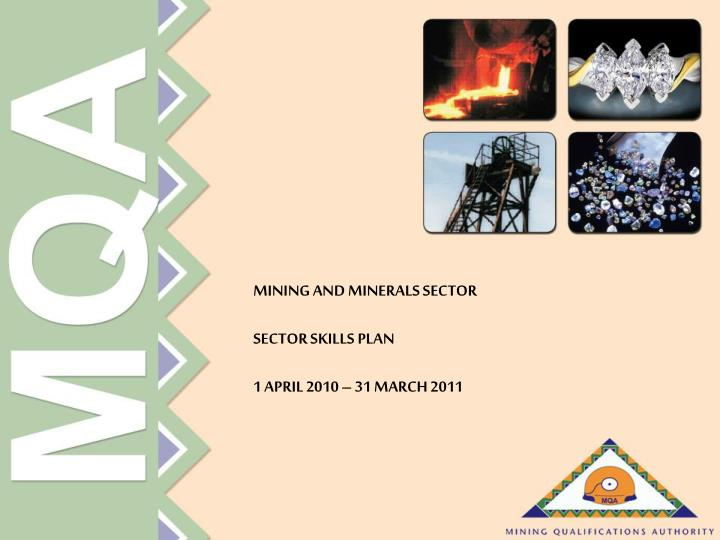 MINING AND MINERALS SECTOR
