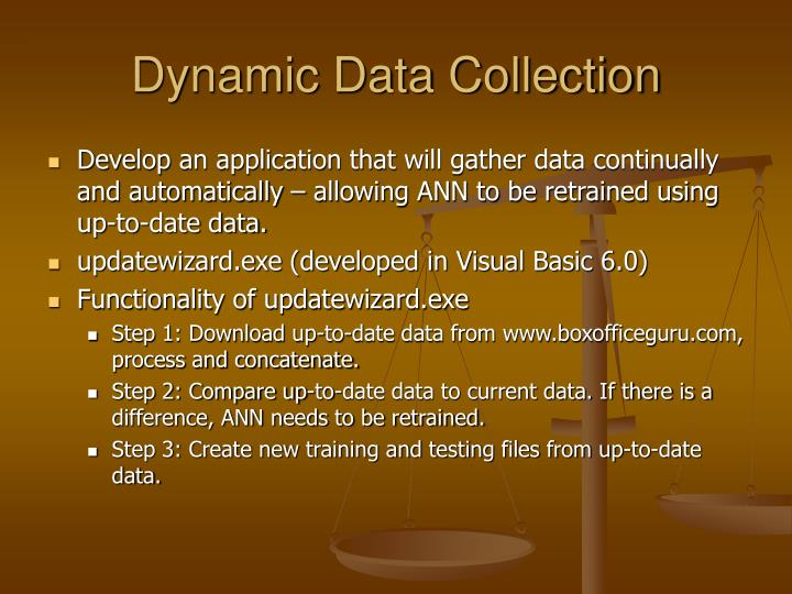 Dynamic Data Collection