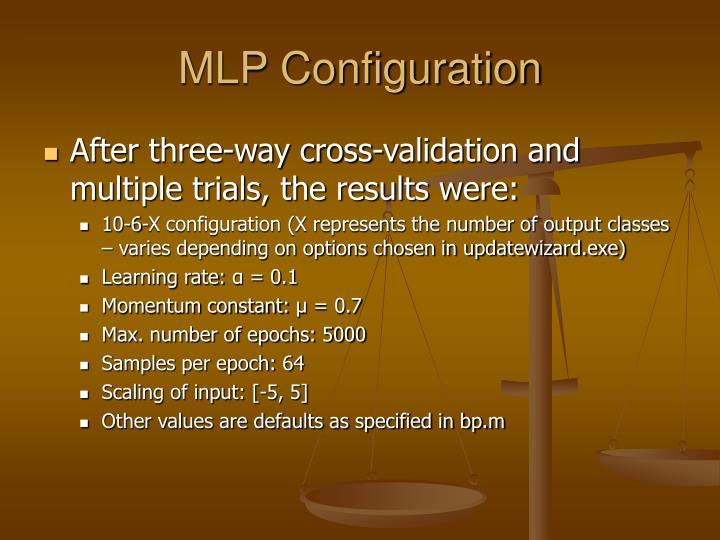 MLP Configuration