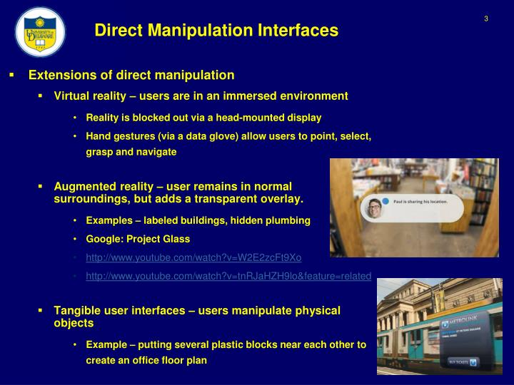 Direct manipulation interfaces2