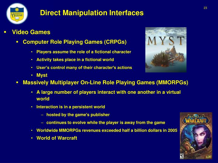 Direct Manipulation Interfaces