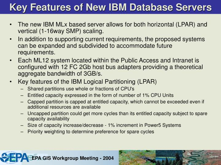 Key Features of New IBM Database Servers