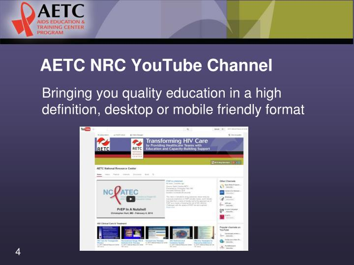AETC NRC YouTube Channel