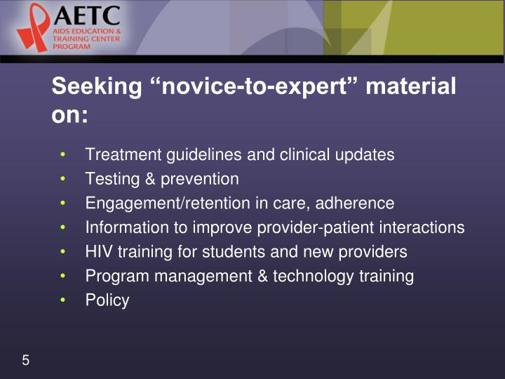 """Seeking """"novice-to-expert"""" material on:"""