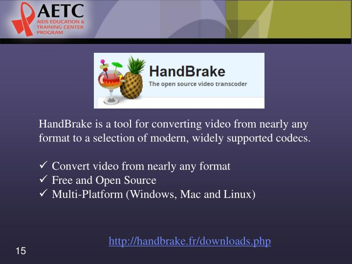 HandBrake is a tool for converting video from nearly