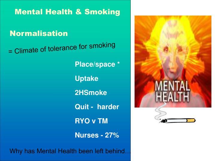 Mental Health & Smoking