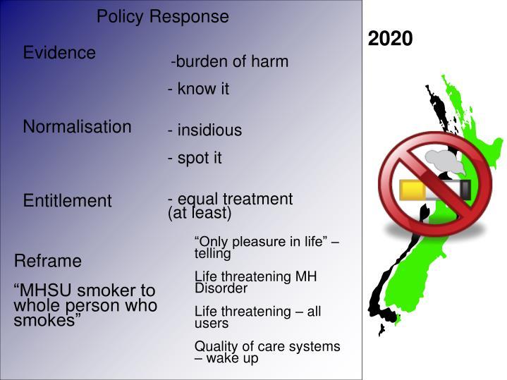 Evidence -  burden of harm