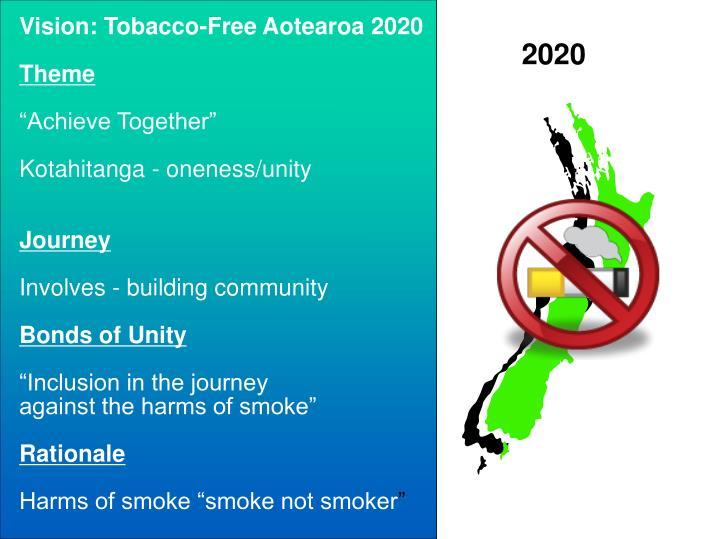 Vision: Tobacco-Free Aotearoa 2020