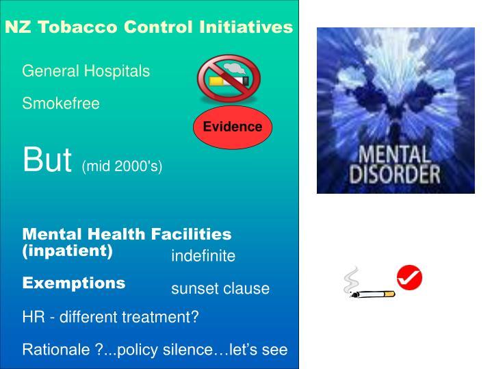 NZ Tobacco Control Initiatives