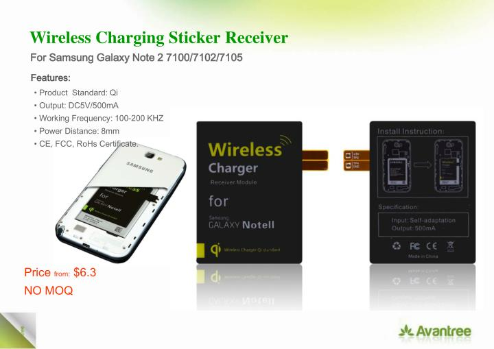 Wireless Charging Sticker
