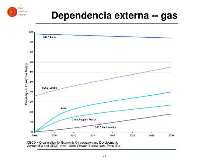 Dependencia externa -- gas