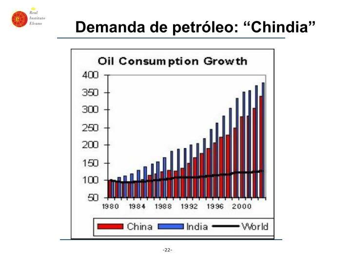 """Demanda de petróleo: """"Chindia"""""""