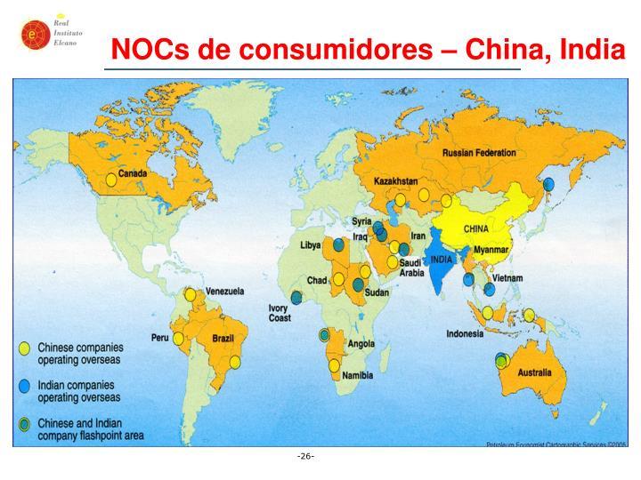 NOCs de consumidores – China, India
