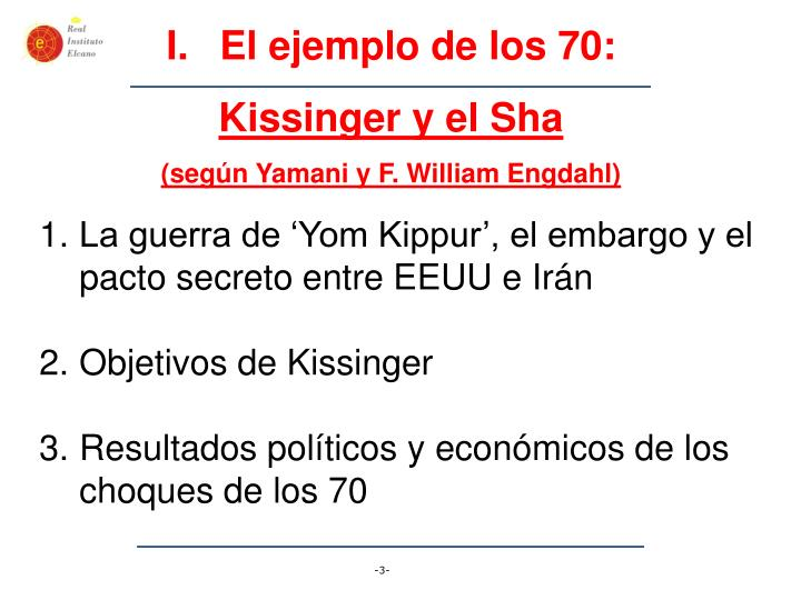 El ejemplo de los 70: