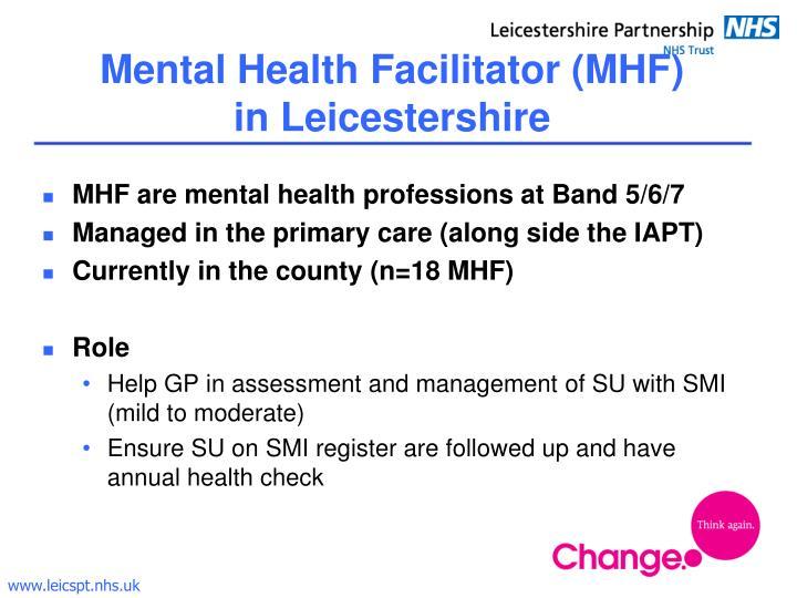 Mental Health Facilitator (MHF)