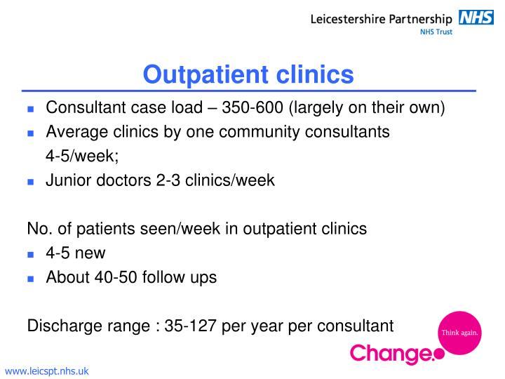 Outpatient clinics