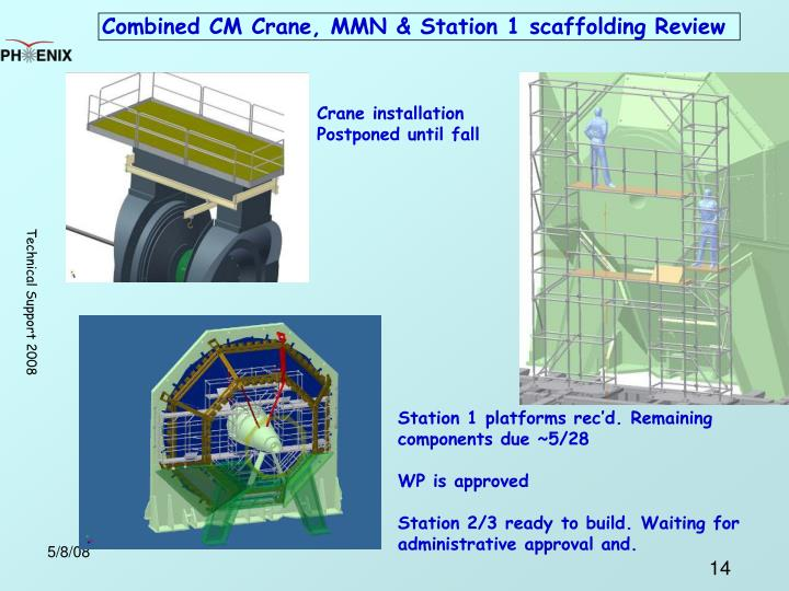 Combined CM Crane, MMN & Station 1 scaffolding Review