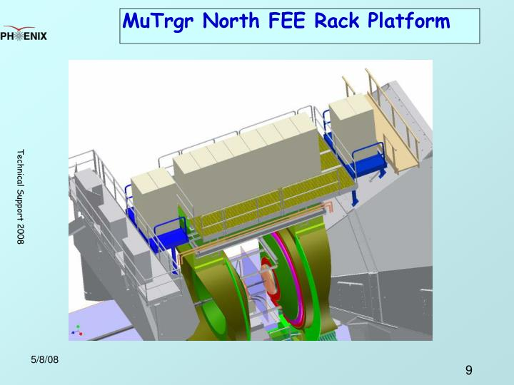 MuTrgr North FEE Rack Platform