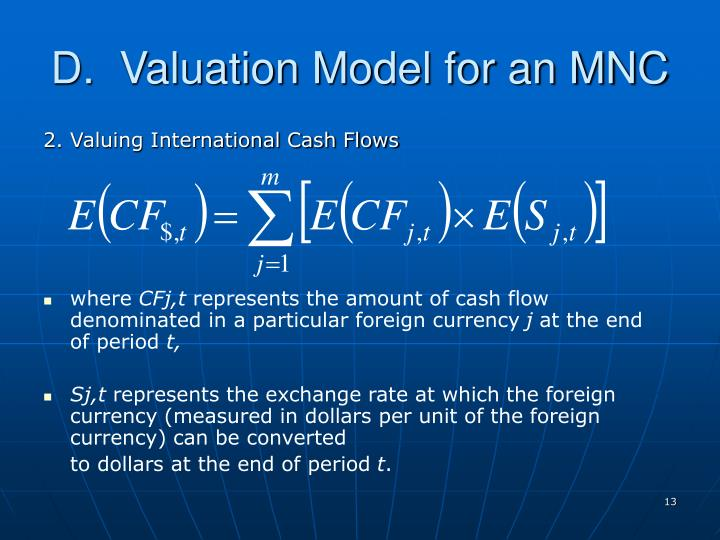 D.  Valuation Model for an MNC