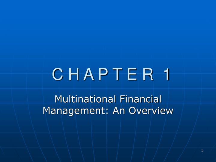 multinational financial management an overview