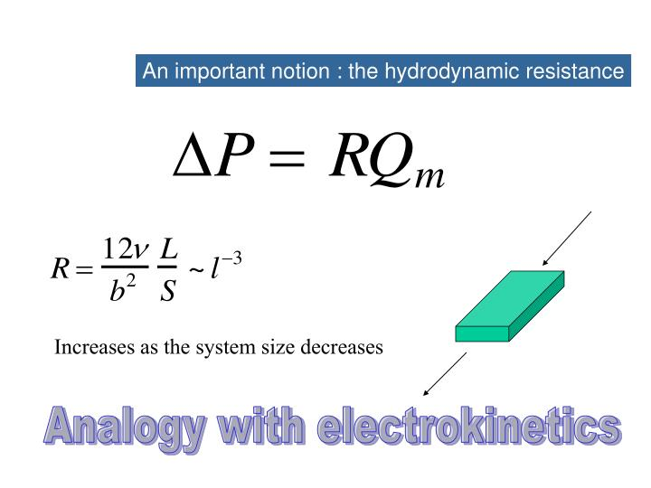 An important notion : the hydrodynamic resistance