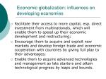 economic globalization influences on developing economies