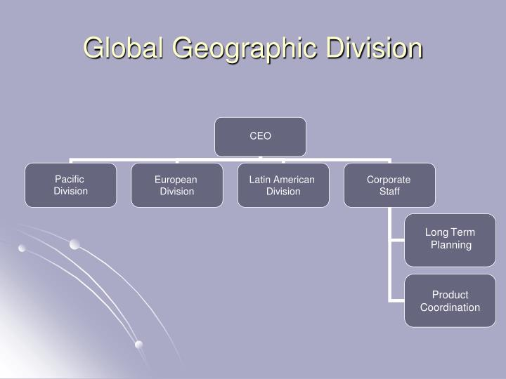 Global Geographic Division