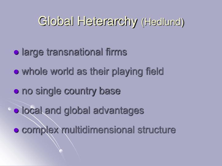 Global Heterarchy