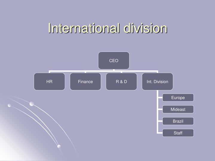 International division