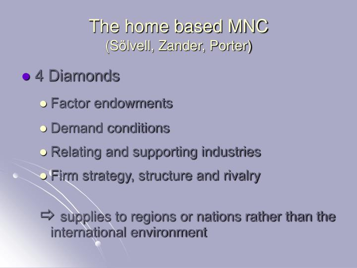 The home based MNC