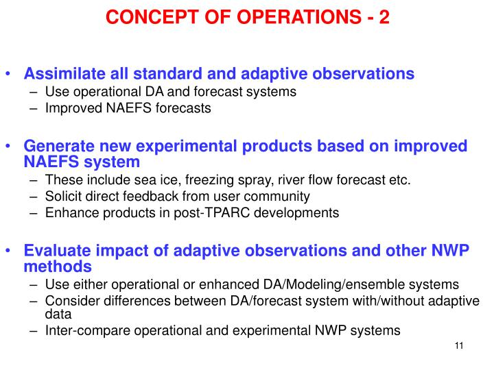CONCEPT OF OPERATIONS - 2