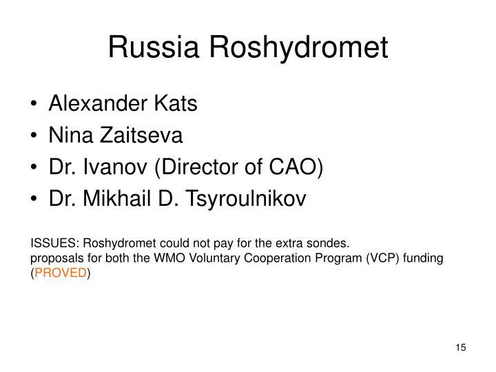 Russia Roshydromet