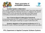 basic principles of elogserv platform