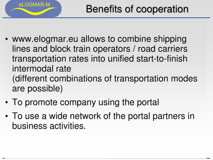 Benefits of cooperation