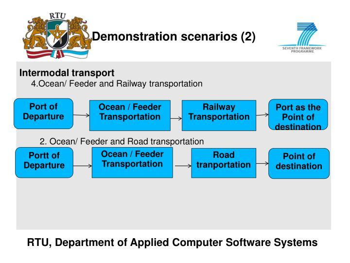 Demonstration scenarios (2)