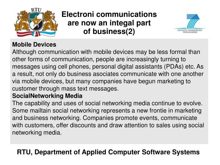 Electroni communications